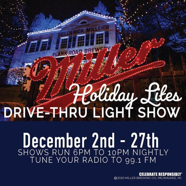 Our 17th annual Miller Valley Holiday Lites shows start tonight.  For more details visit millerbrewerytour.com/events
