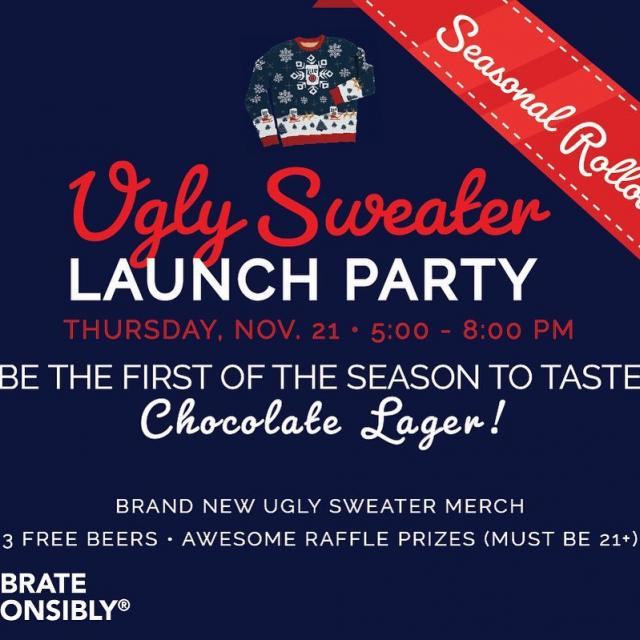 Miller Lite ugly sweater launch party is 11/21.  Visit millerbrewerytour.com and click on Events link for more details.